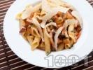 Рецепта Гарганели с домати и бекон